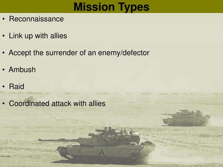 Mission Types