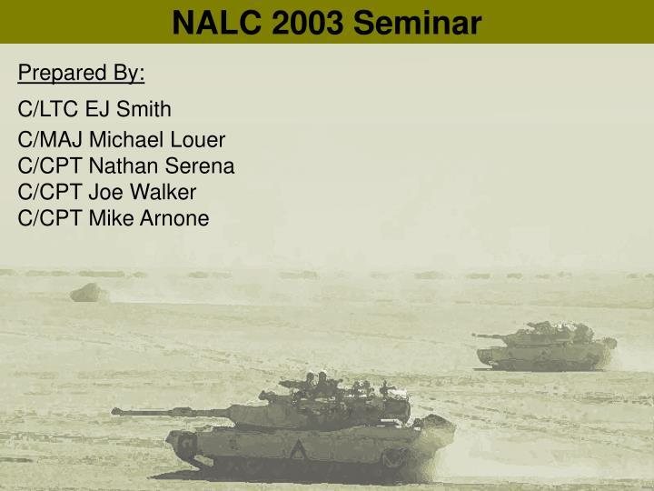 NALC 2003 Seminar