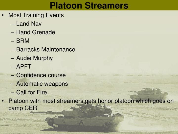 Platoon Streamers