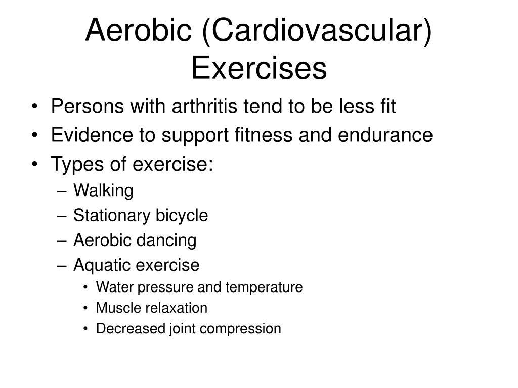 Aerobic (Cardiovascular) Exercises