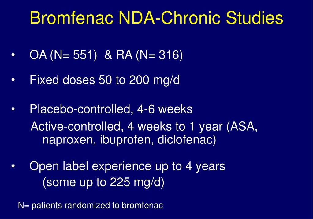 Bromfenac NDA-Chronic Studies