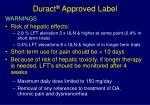 duract approved label