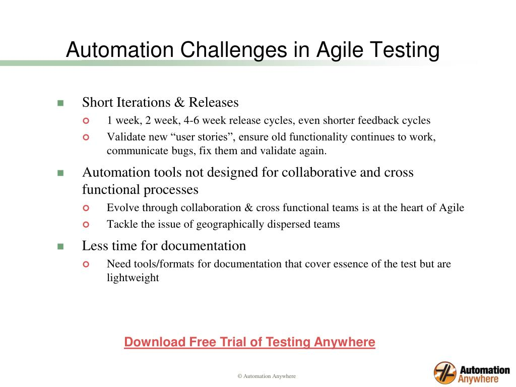 Automation Challenges in Agile Testing