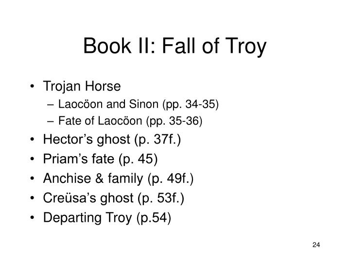 Book II: Fall of Troy