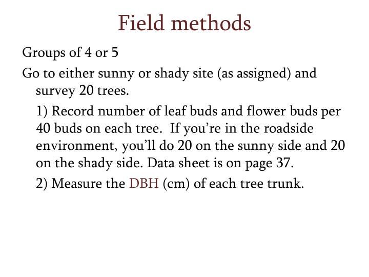 Field methods