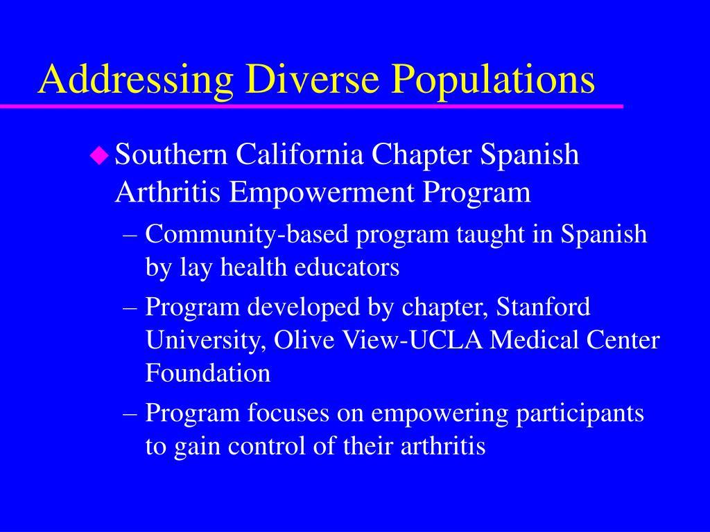 Addressing Diverse Populations