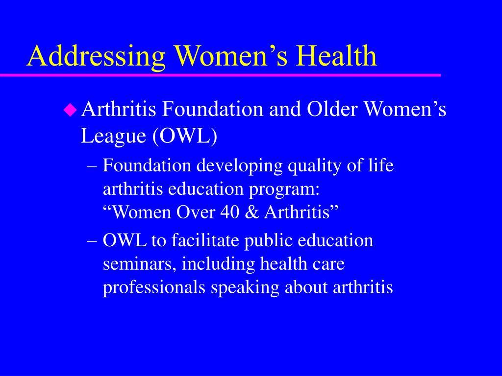 Addressing Women's Health