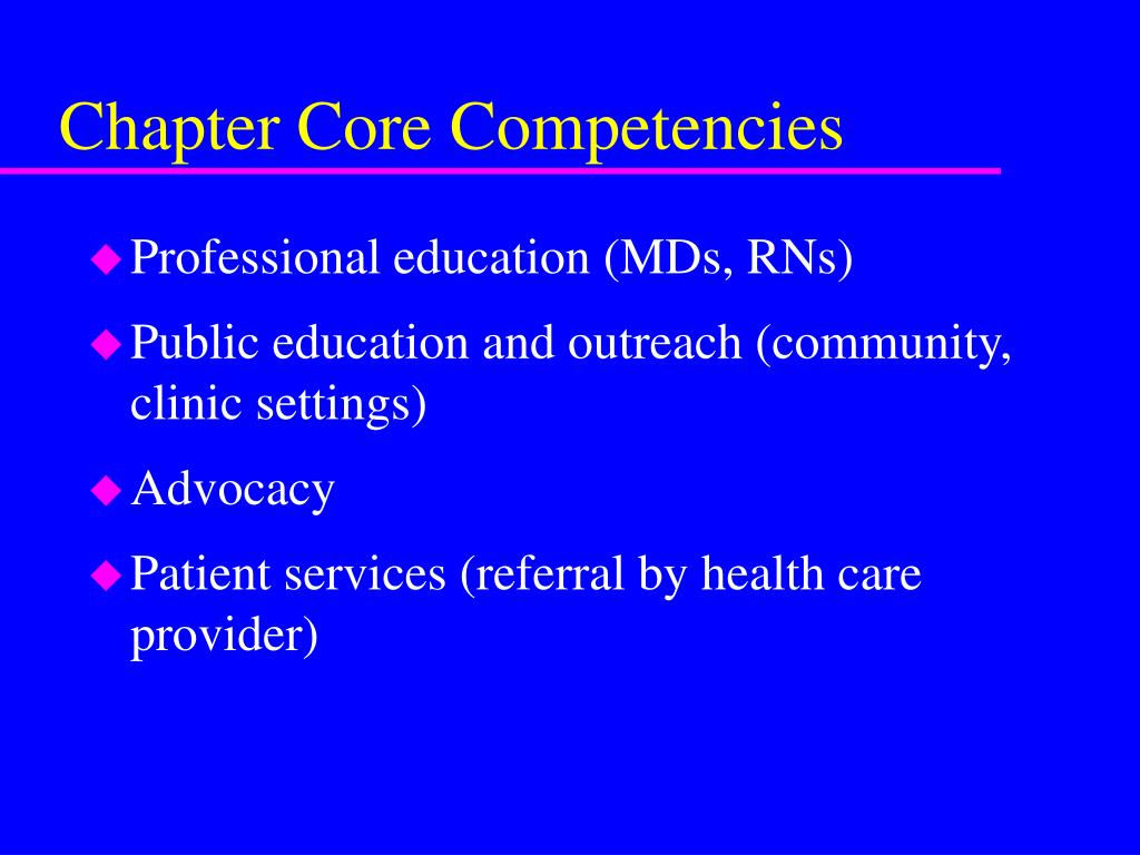 Chapter Core Competencies