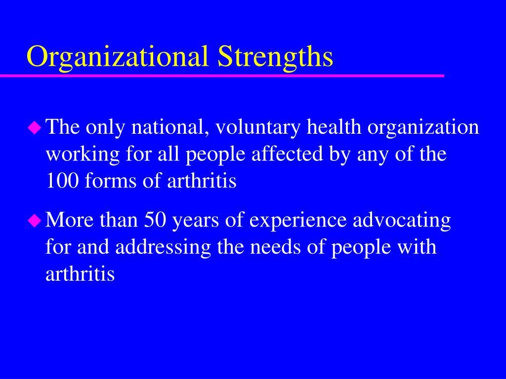 Organizational Strengths