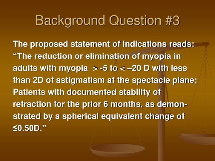Background Question #3