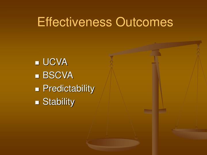 Effectiveness Outcomes