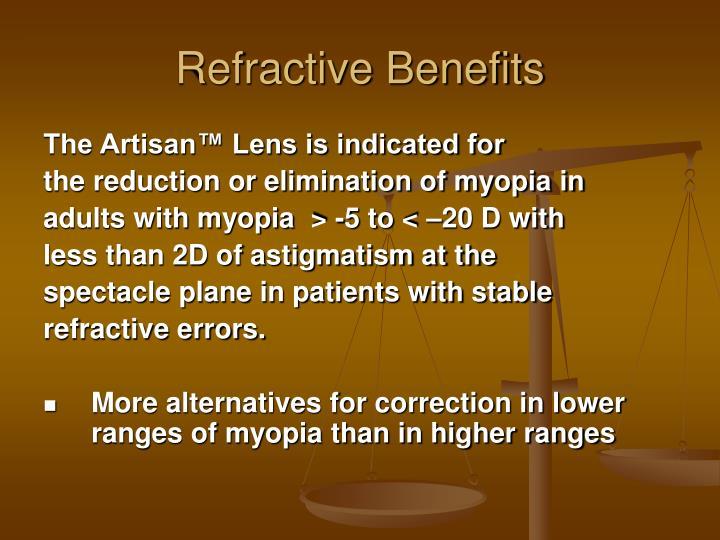 Refractive Benefits