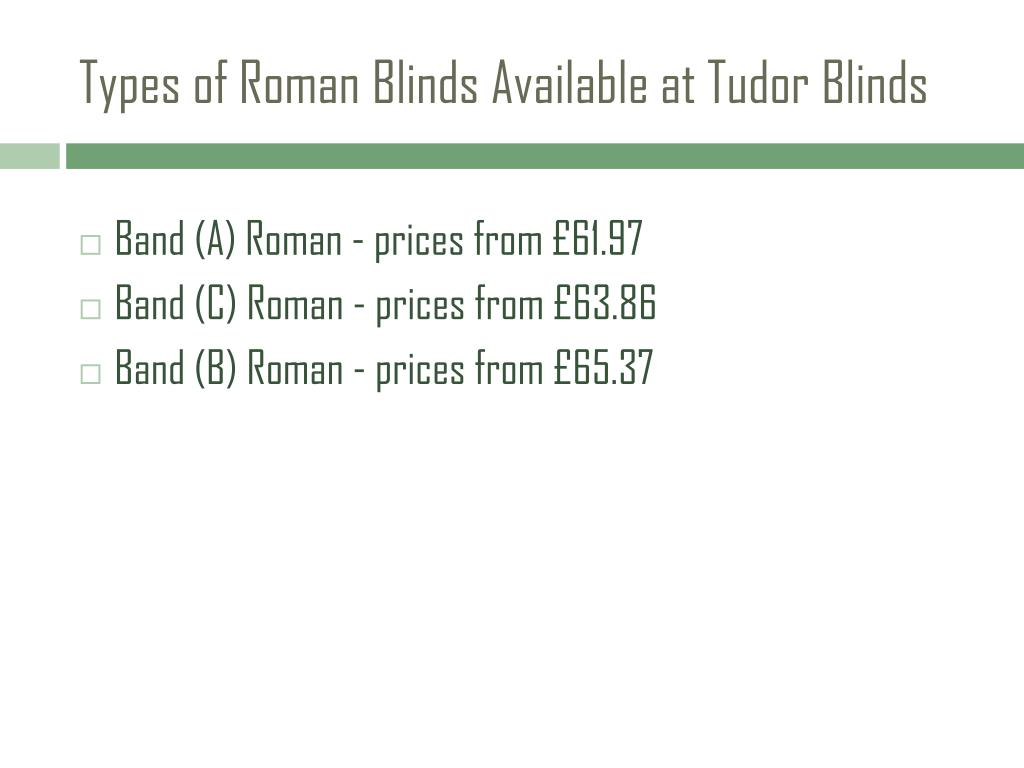 Types of Roman Blinds Available at Tudor Blinds