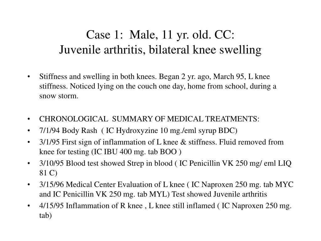 Case 1:  Male, 11 yr. old. CC: