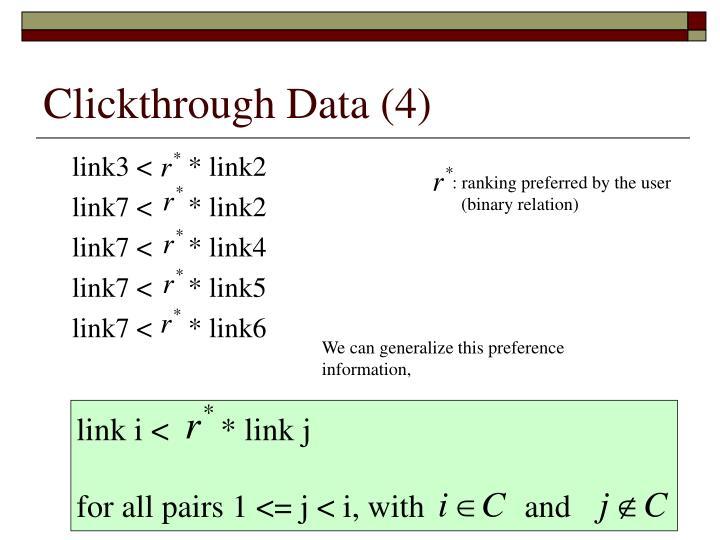 Clickthrough Data (4)