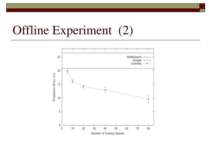 Offline Experiment  (2)