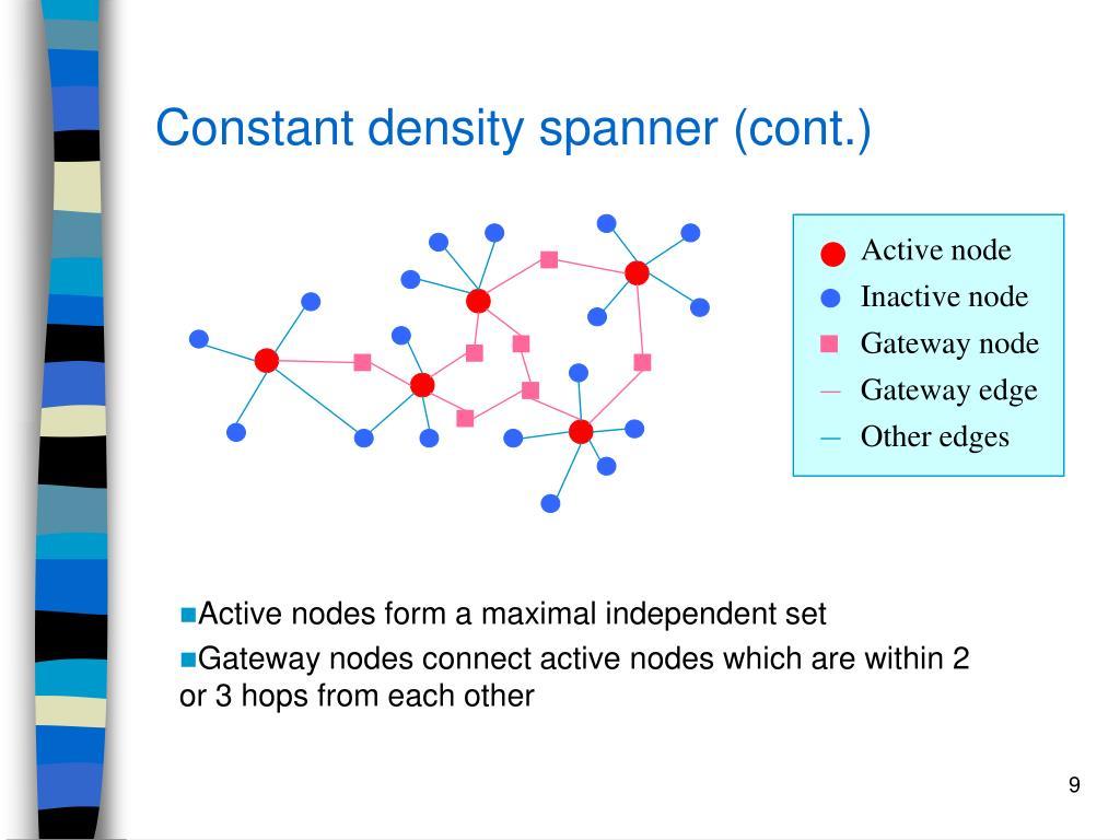 Constant density spanner (cont.)