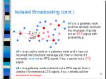isolated broadcasting cont
