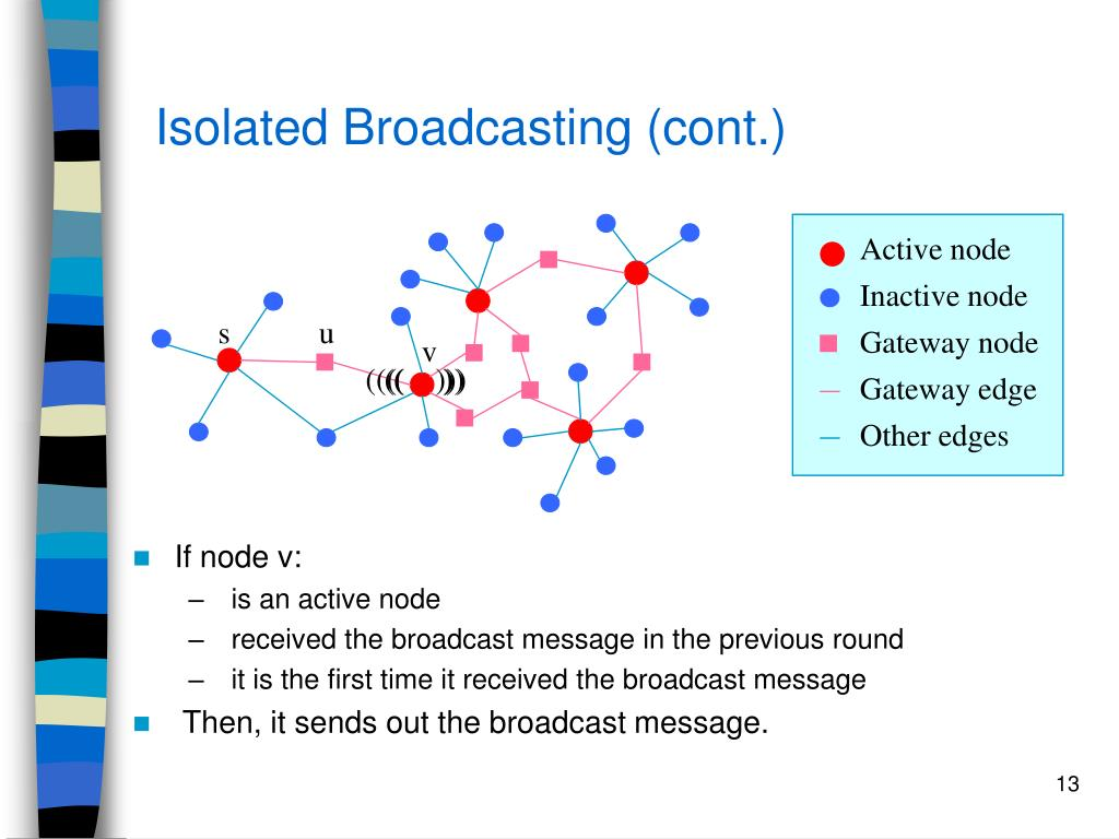 Isolated Broadcasting (cont.)