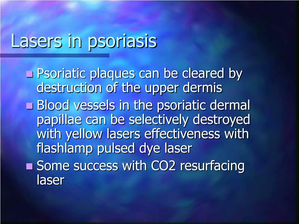 Lasers in psoriasis