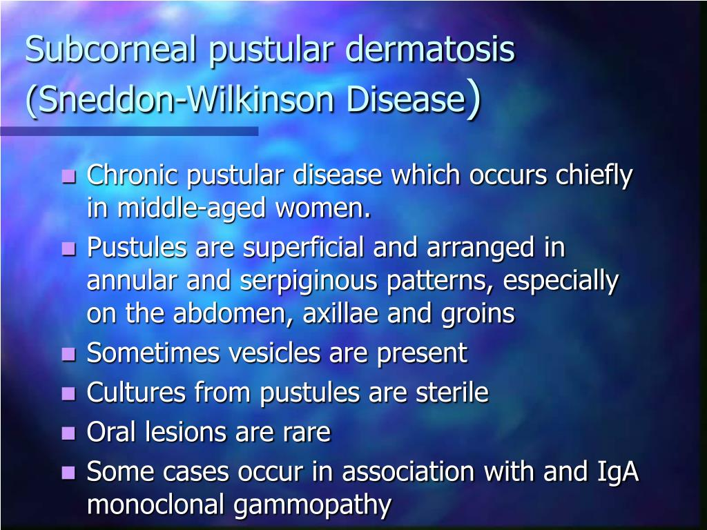 Subcorneal pustular dermatosis