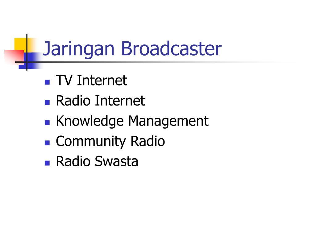 Jaringan Broadcaster