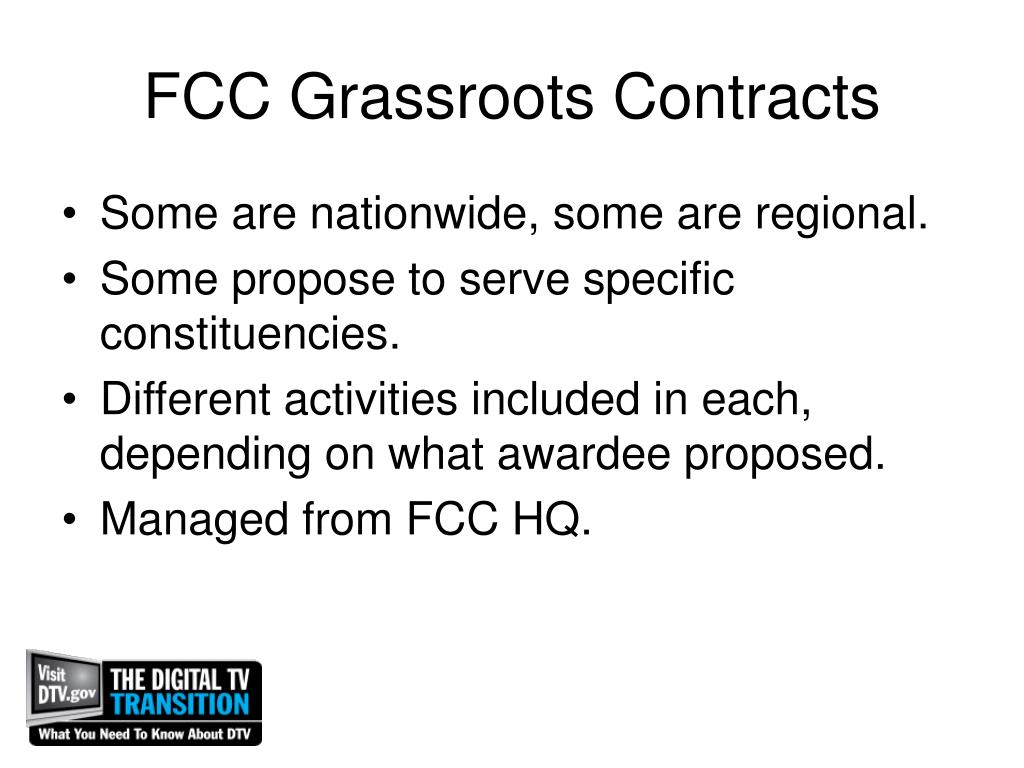 FCC Grassroots Contracts