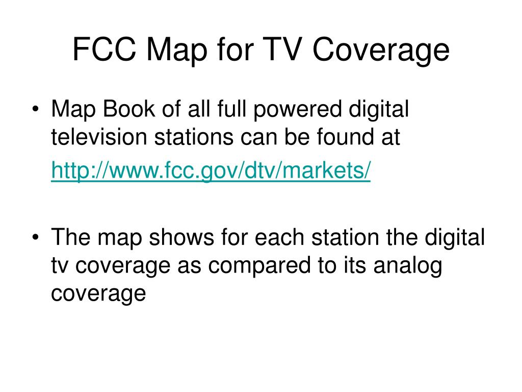 FCC Map for TV Coverage
