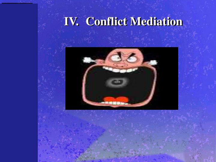 IV.Conflict Mediation