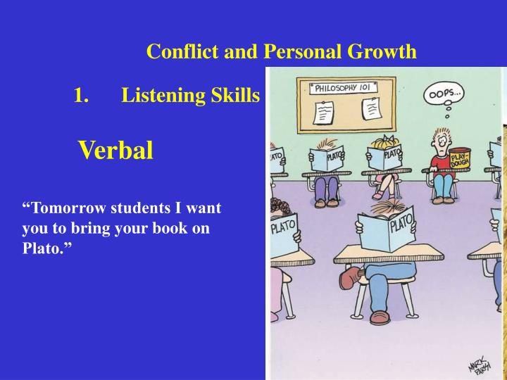 Conflict and Personal Growth