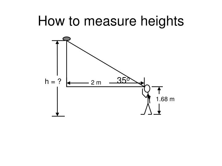 How to measure heights