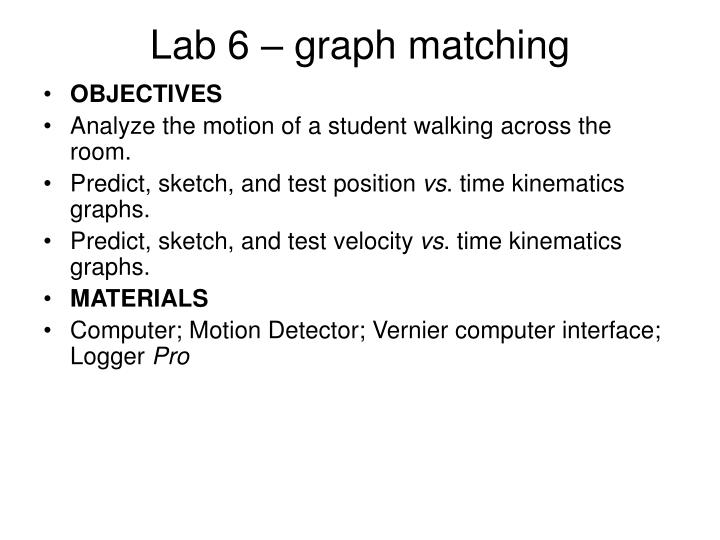 Lab 6 – graph matching