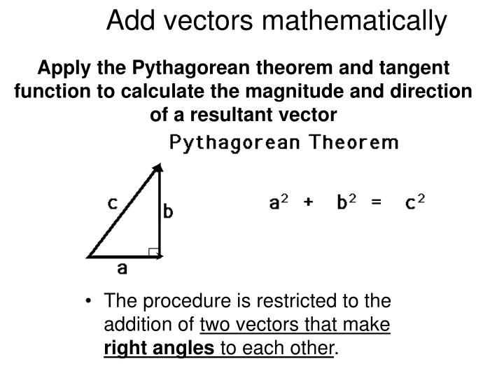 Add vectors mathematically