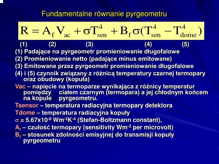 Fundamentalne równanie pyrgeometru