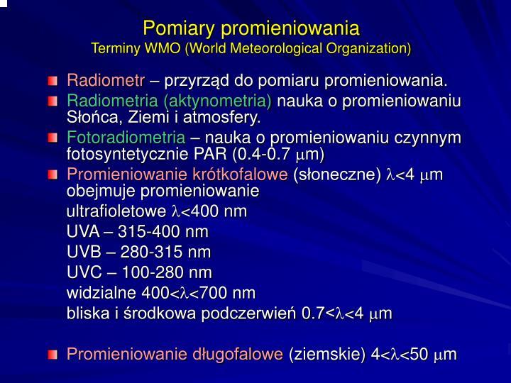 Pomiary promieniowania
