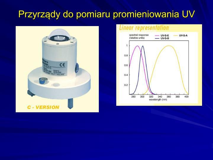 Przyrządy do pomiaru promieniowania UV