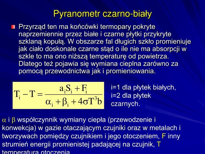 Pyranometr czarno-biały
