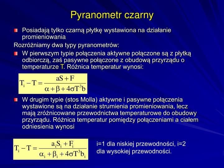 Pyranometr czarny