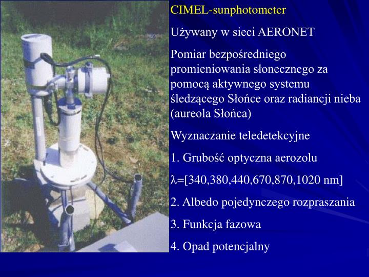 CIMEL-sunphotometer