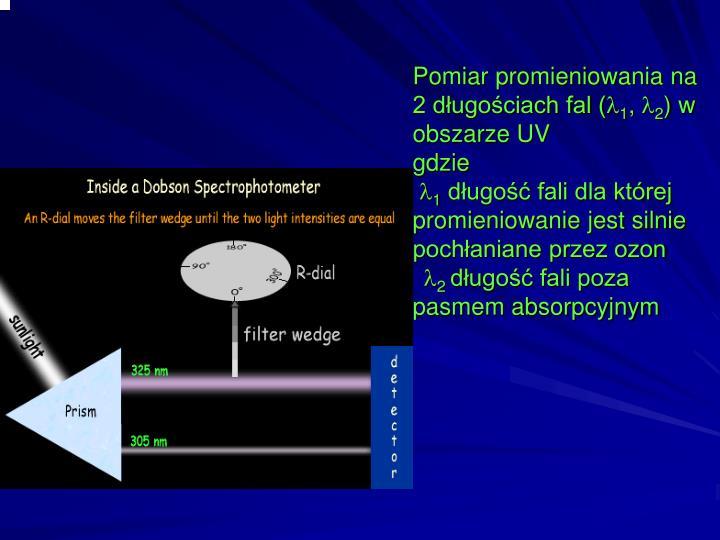 Pomiar promieniowania na 2 długościach fal (