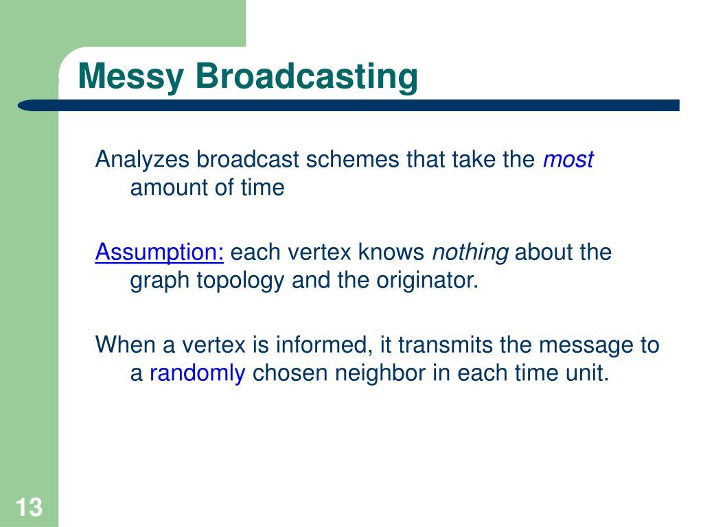 Messy Broadcasting