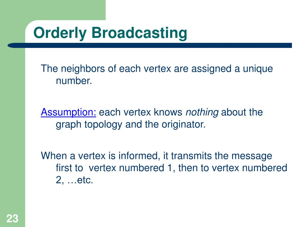 Orderly Broadcasting