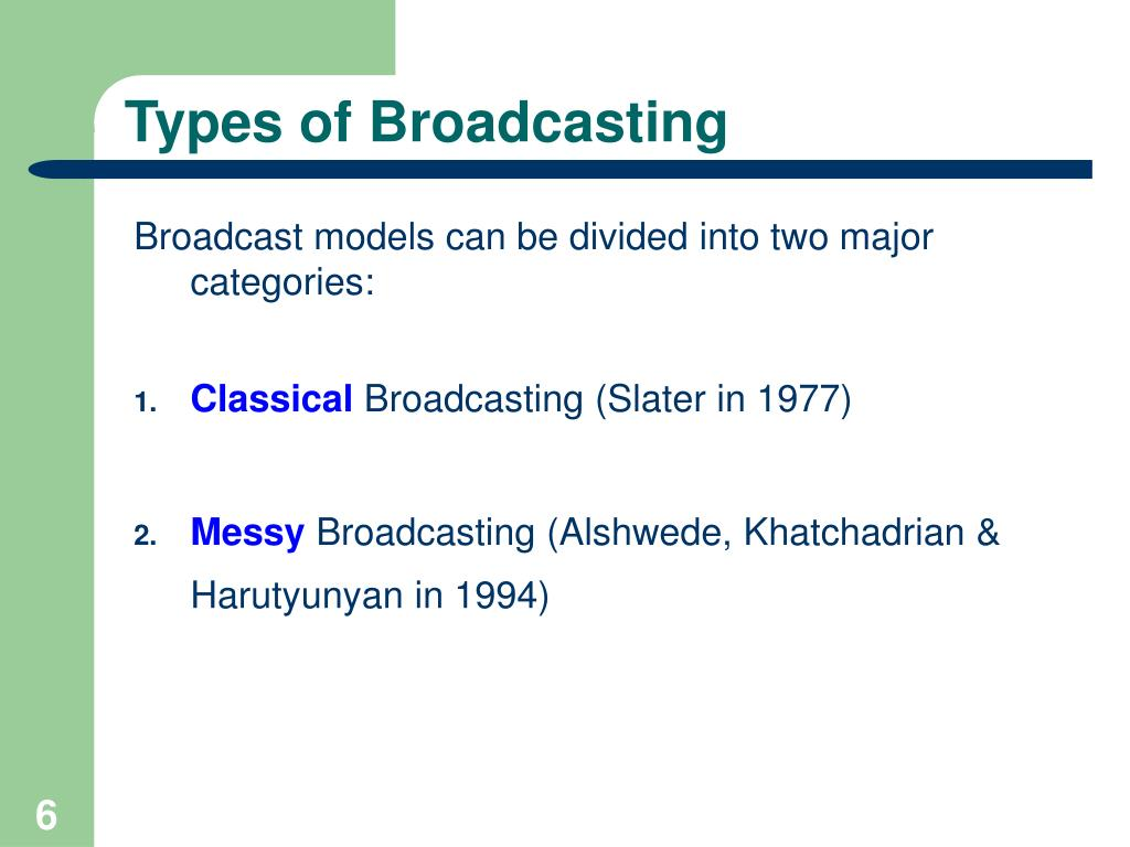 Types of Broadcasting