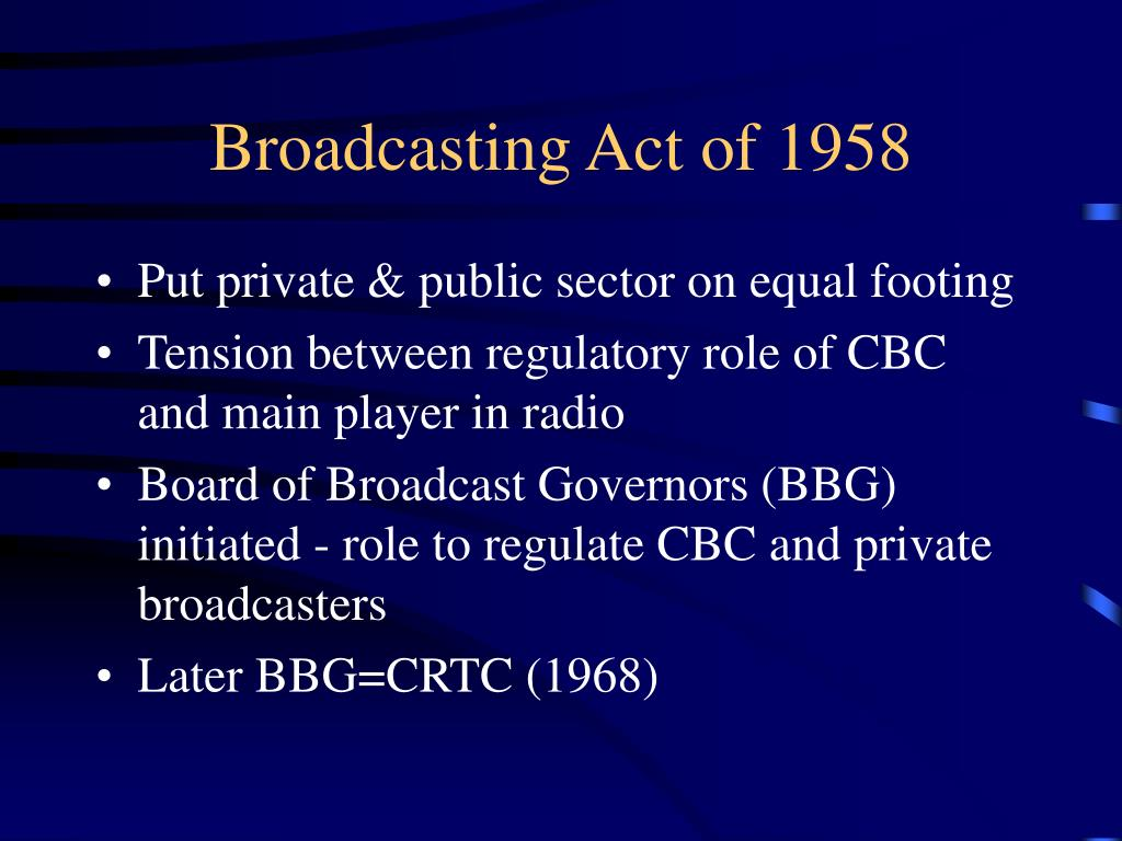 Broadcasting Act of 1958