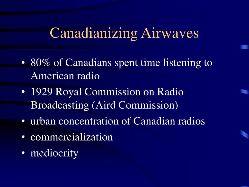 Canadianizing Airwaves