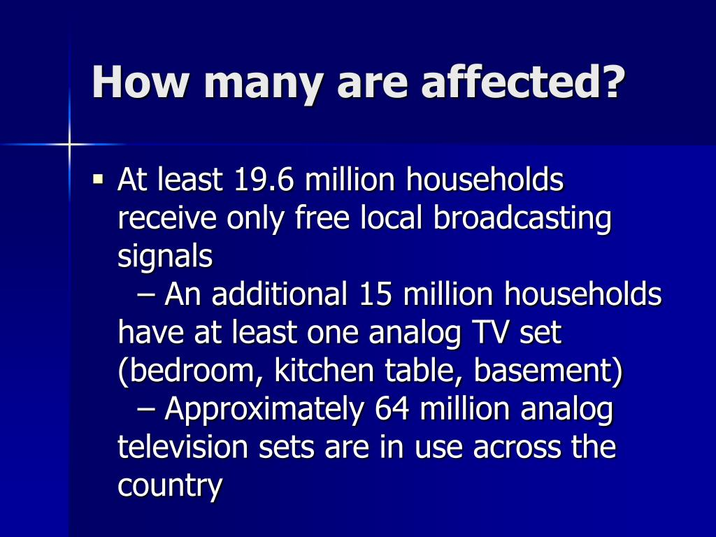 How many are affected?