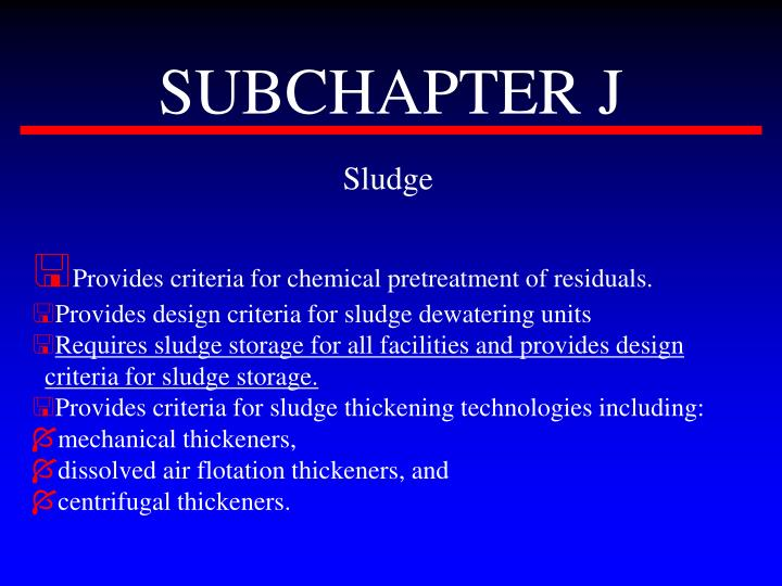 SUBCHAPTER J