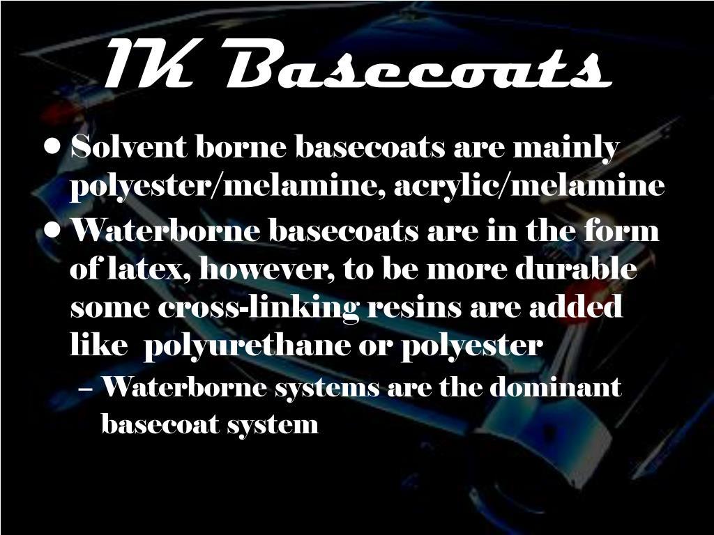 1K Basecoats