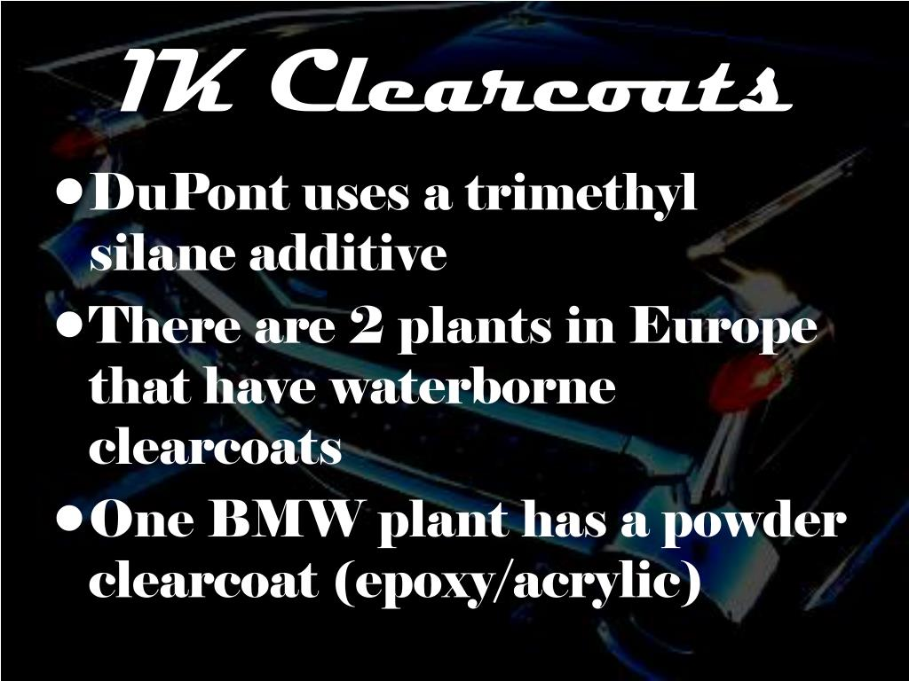 1K Clearcoats