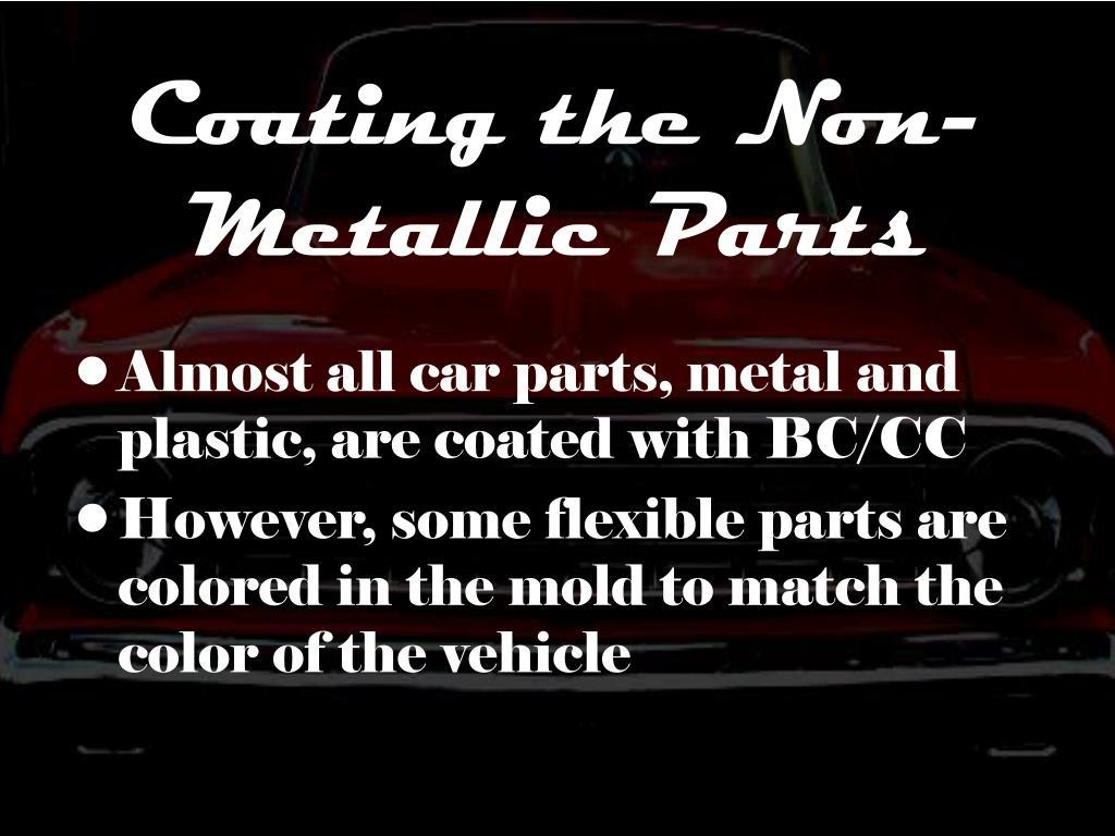Coating the Non-Metallic Parts